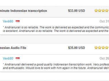 Indonesian Transcription