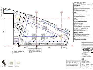 Shop. DIALux & AutoCAD layout