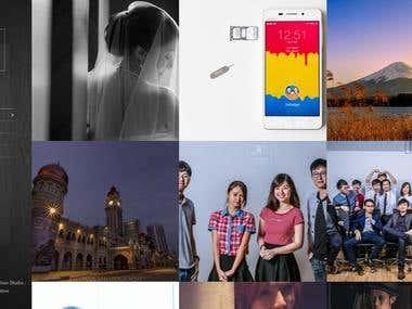 Wordpress based photography portfolio website