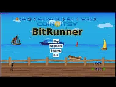 BitRunner Bitcoin inspired arcade game