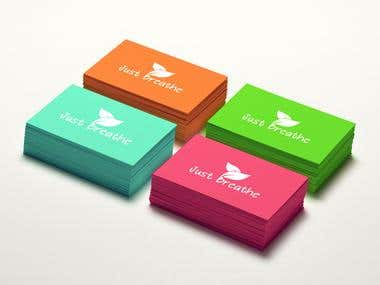 Just Breathe Logo/Business Card