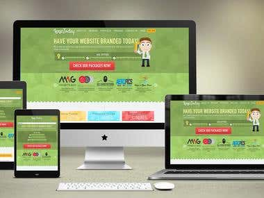 Responsive wordpress website and custom wordpress plugin