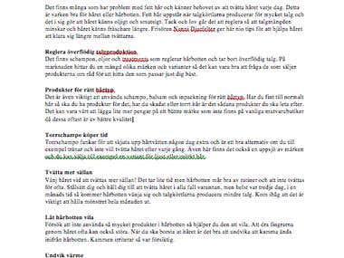 Swedish beauty article - 9 tips för flottigt hår