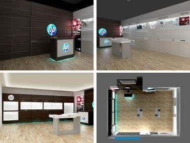 Retail Brand Store 3D Rendering