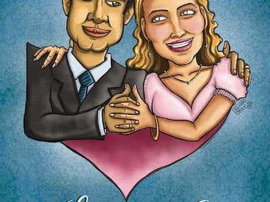 Illustration made for a wedding
