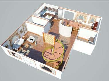 3D design and modelling House Interior