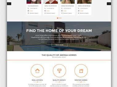 Design website mock-up