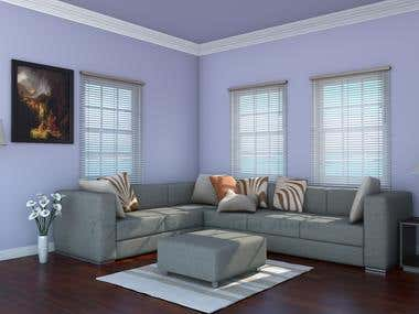Interior Visualization of Living Room