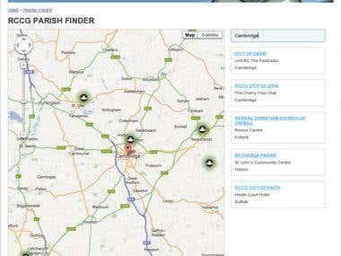 Parish Finder for RCCG site