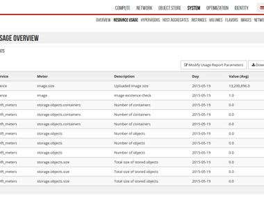 OpenStack Dashboard UI