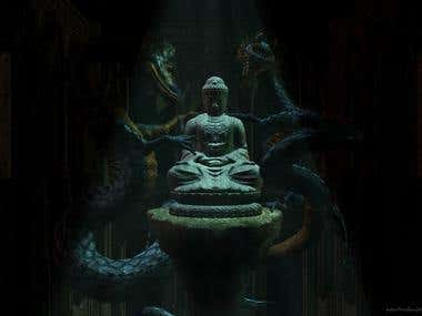 Buddha&Dragons Poster