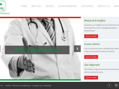 WEBSITE - WORDPRESS - Health Resources Website