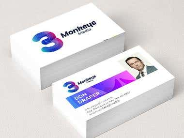 Business Card for 3 monkeys media