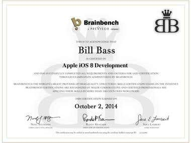 Won iOS8 app development certificate