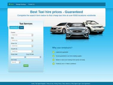 Taxi Booking Site