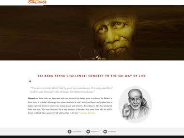 WEBSITE - WORDPRESS - Spiritual Saibaba Trust Website