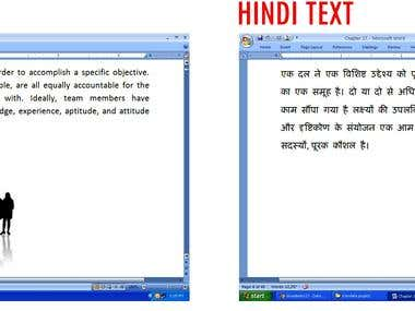 English to Hindi Translation