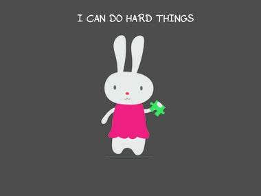 Rabbit Character for Children\'s Book