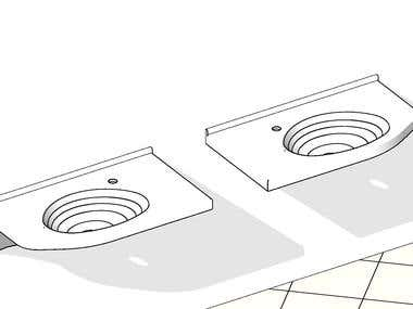 Special sink - Revit BIM object development project