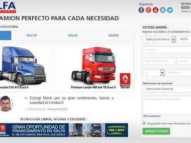 Landing page SALFA Camiones