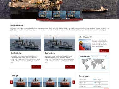 PARSH marine website design