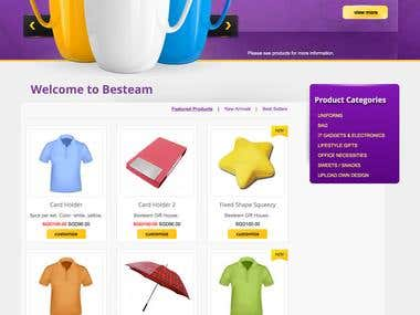 Besteam Ecommerce Site