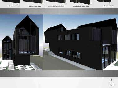 Architectural design for family house, Australia 2013 year