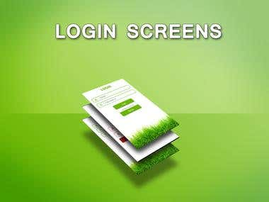 Login screens