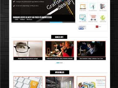 A responsive wordpress site