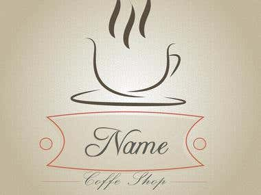 Template for a coffe shop
