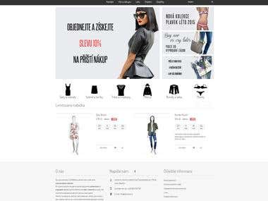 Store of fashion clothes