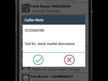Caller Notes App