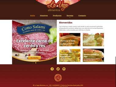 La Vega Alimentos - Corporate Web Site design