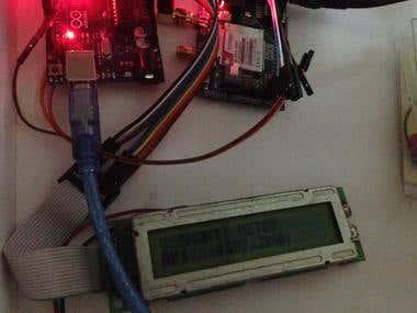 Smart Meter using SIM900 GSM SMS module