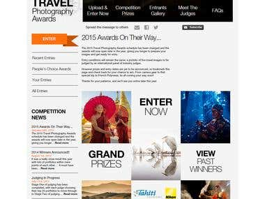 Travel Photography Awards website