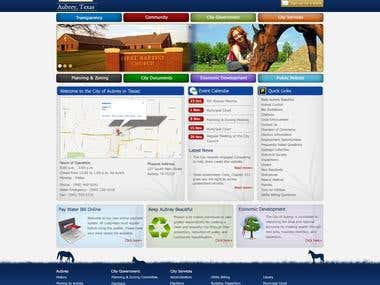 Responsive Home Page - Aubrey Texas