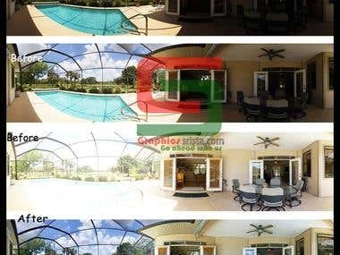 Real Estate Image Manipulation  and HDR edit.