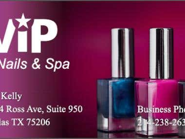 Business Card - Vip Nails & Spa