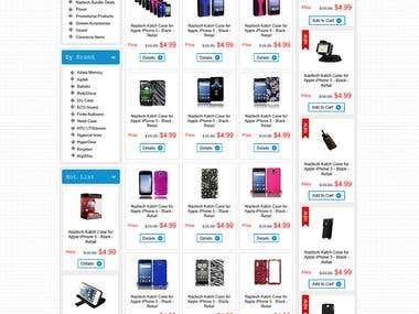 Ecommerce store for mobile