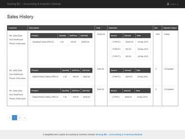 Inventory and Sales Module