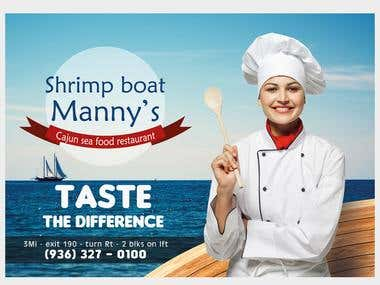seafood restaurant advertisment
