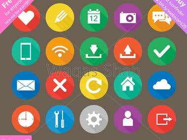 Web and Apps Interface Flat Icon Set