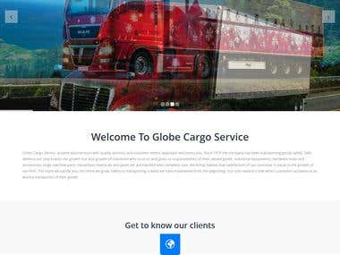 Globe Cargo Service Website developed in PHP