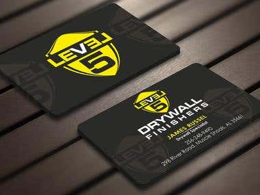 Design some Business Cards for Drywall Company