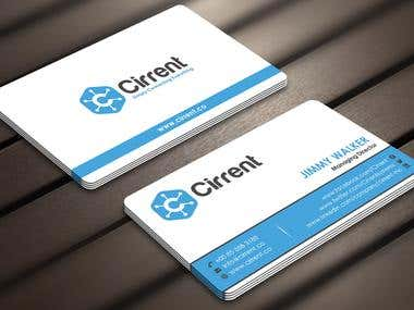 Design some Business Cards for Cirrent.co