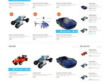 Toys Website Design