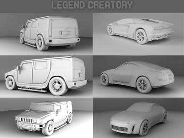 Vehicle render Collage