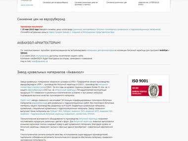 Huge Corporate website