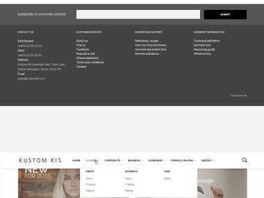 Kustom Kit Website design and development