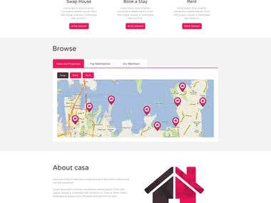 """Website design for \""""Casa\"""""""